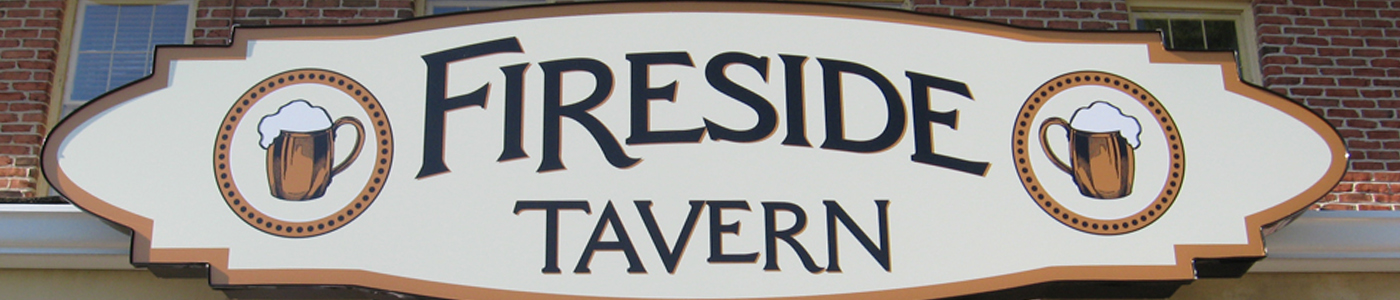 Fireside Tavern building sign by Sign Medix